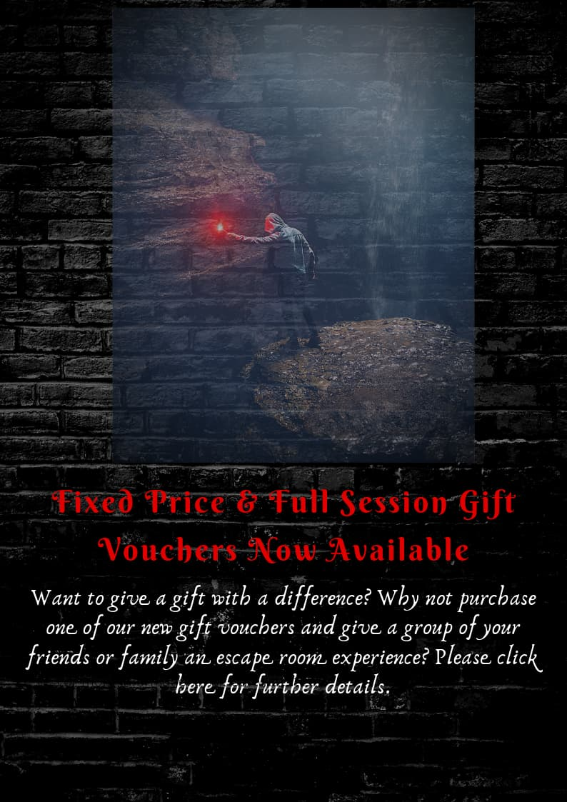 Gift Vouchers for GR8escape escape rooms in York