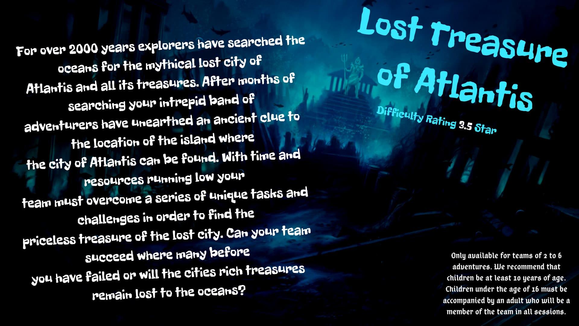 Lost Treasures of Atlantis Escape Room